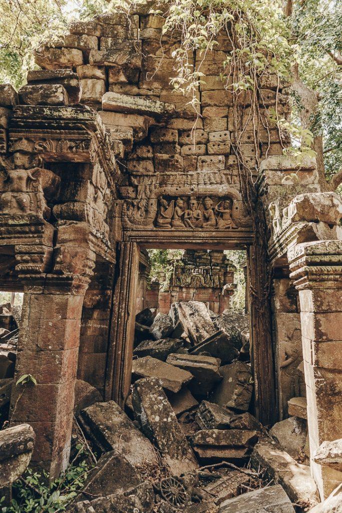 Détail des ruines du temples de Banteay Chhmar - Cambodge