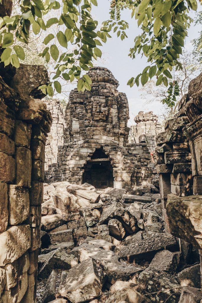 Bouddha du temple de Banteay Chhmar - Cambodge