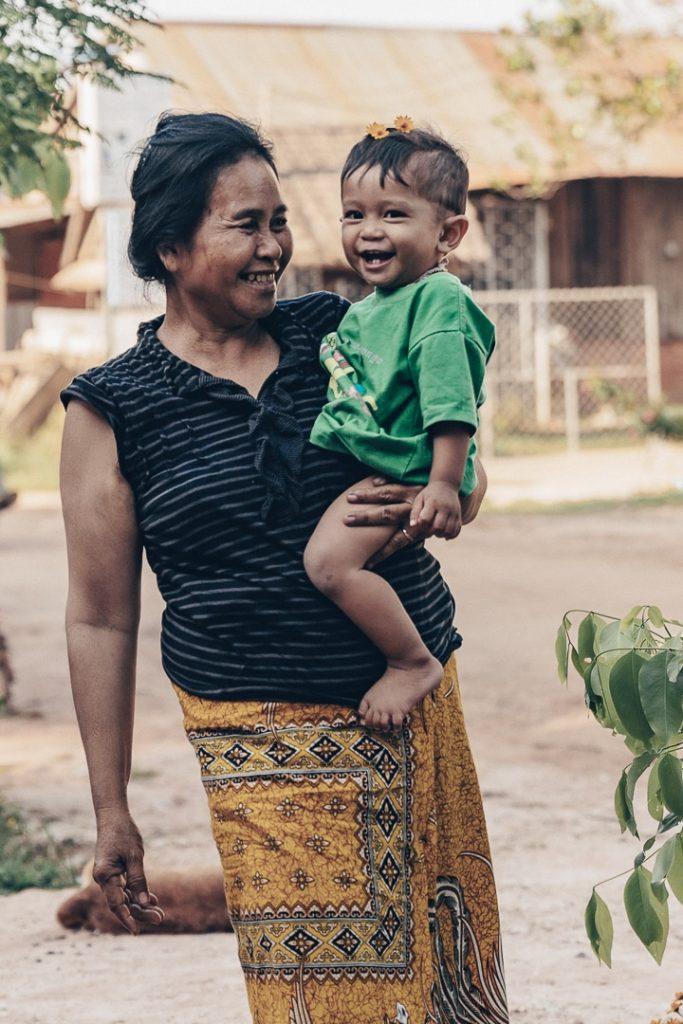 Famille de Banteay Chhmar au Cambodge