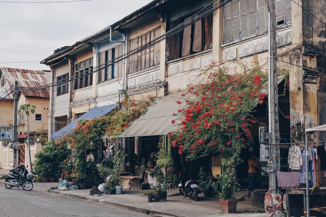 Jolie rue de Kampot - Cambodge