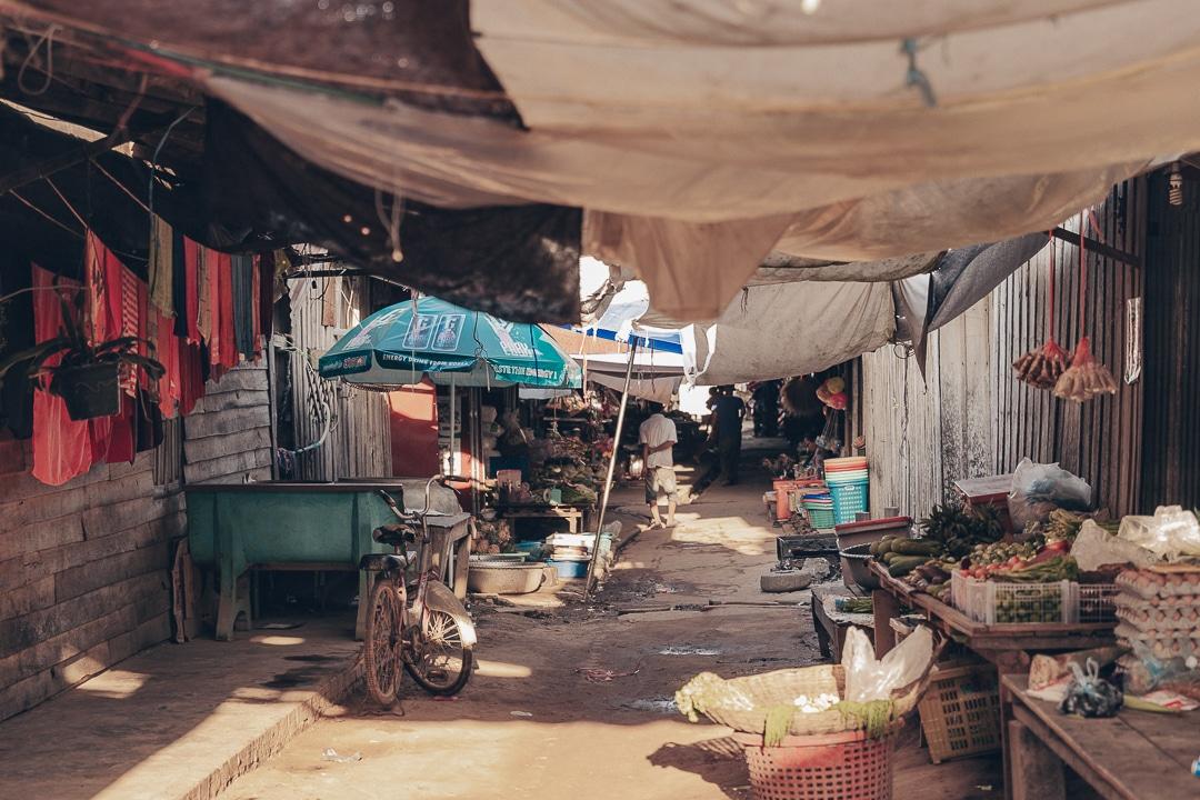 Le marché de Banteay Chhmar - Cambodge