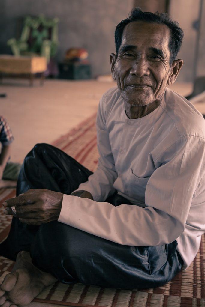 Portrait au temple à l'occasion du nouvel an Khmer au Cambodge