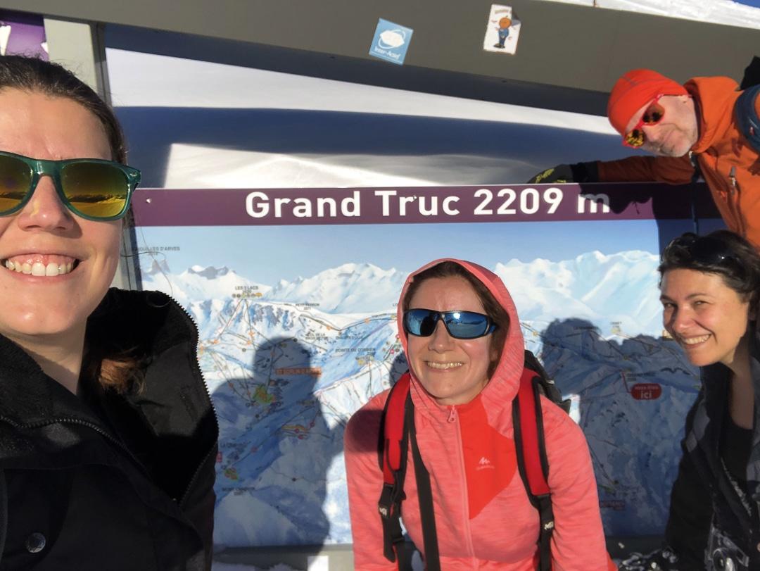 Selfie au Grand Truc avec Sarah, Lucie et Vincent