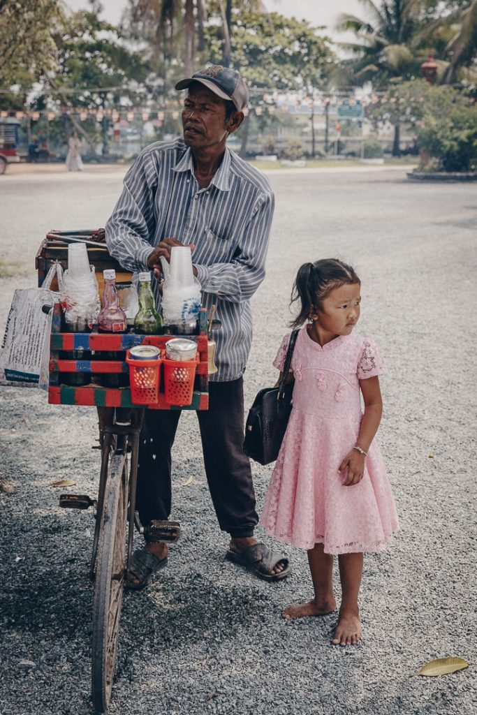 Vendeur de glace de Kampot un jour de nouvel an khmer