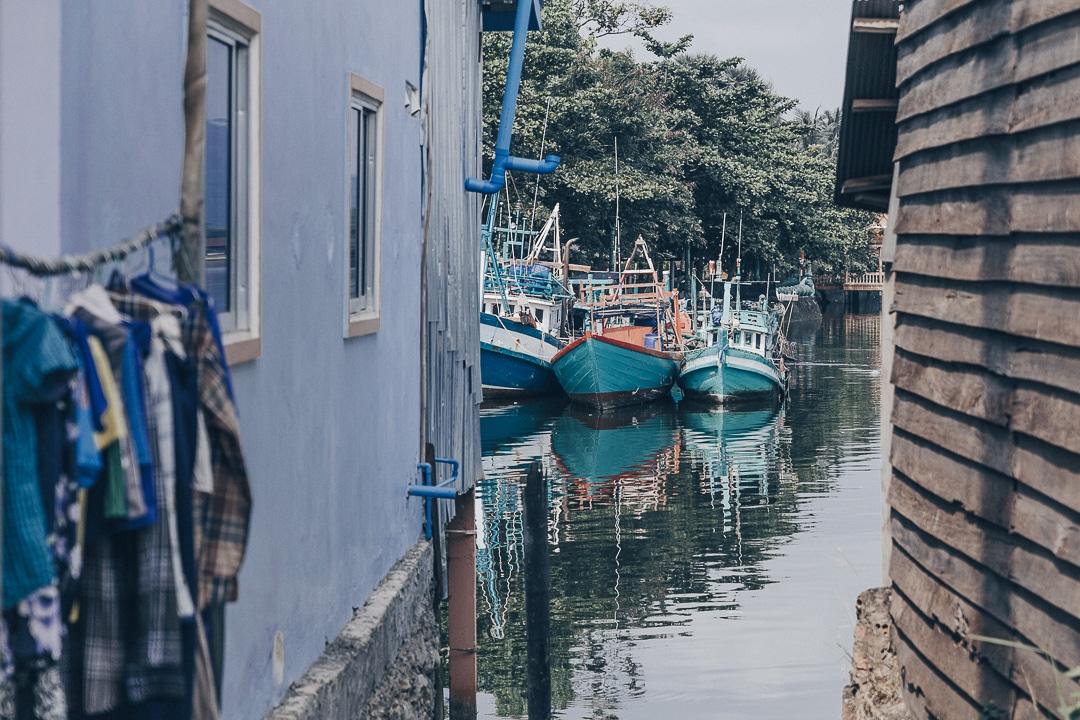 Village de pêcheur à Kampot, Cambodge