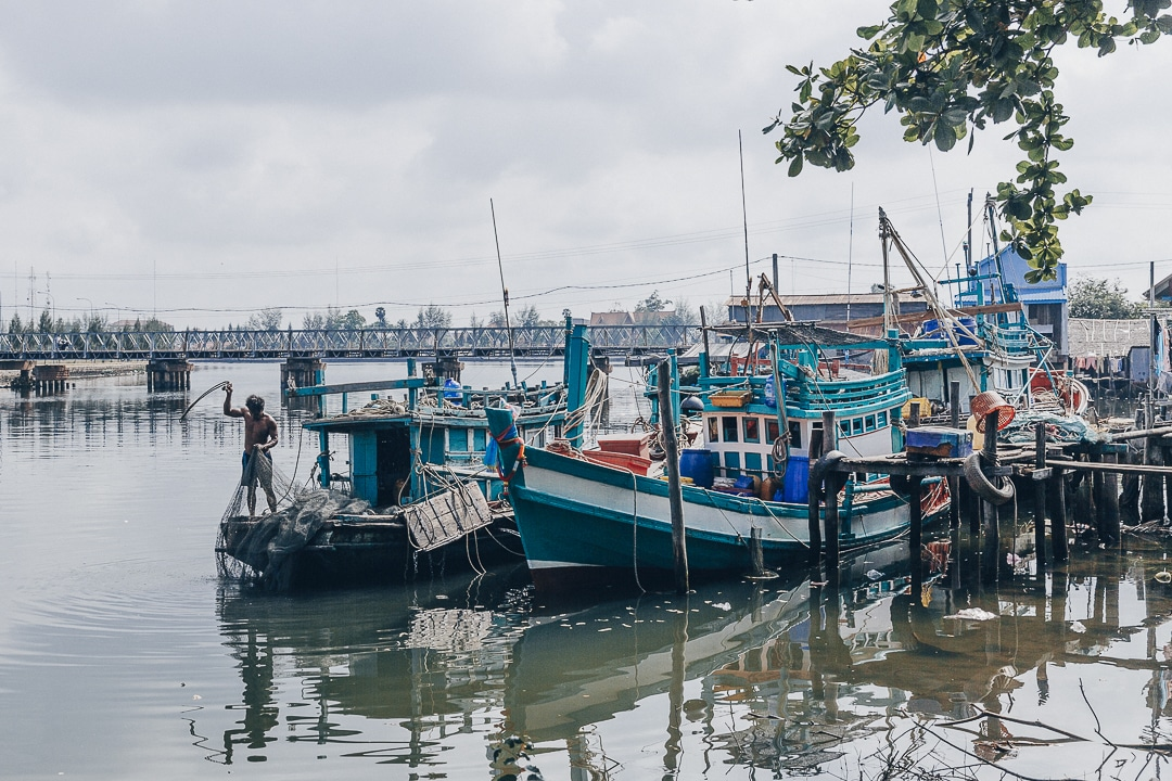 Village de pêcheur à Kampot