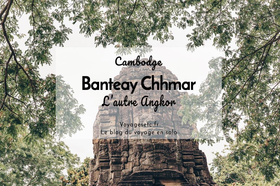 Banteay Chhmar, l'autre temple d'Angkor. Il est situé à quelques heures de route de Siem Reap. On peut dormir chez l'habitant dans le village pour voyager autrement au Cambodge et de façon plus responsable #cambodge