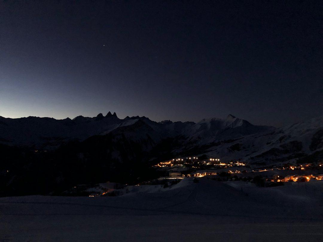 Nuit sur les aiguilles d'Arves - La Toussuire
