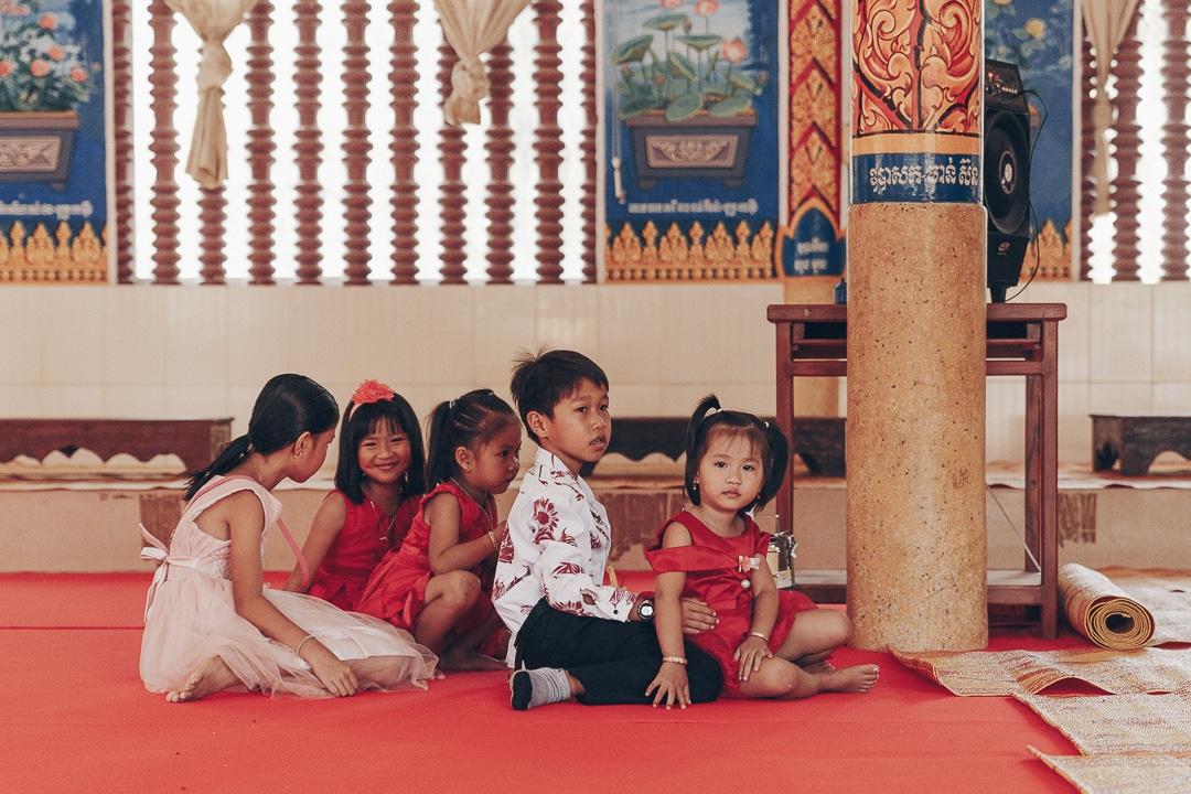 Jour de rassemblement familiale à la pagode - Cambodge