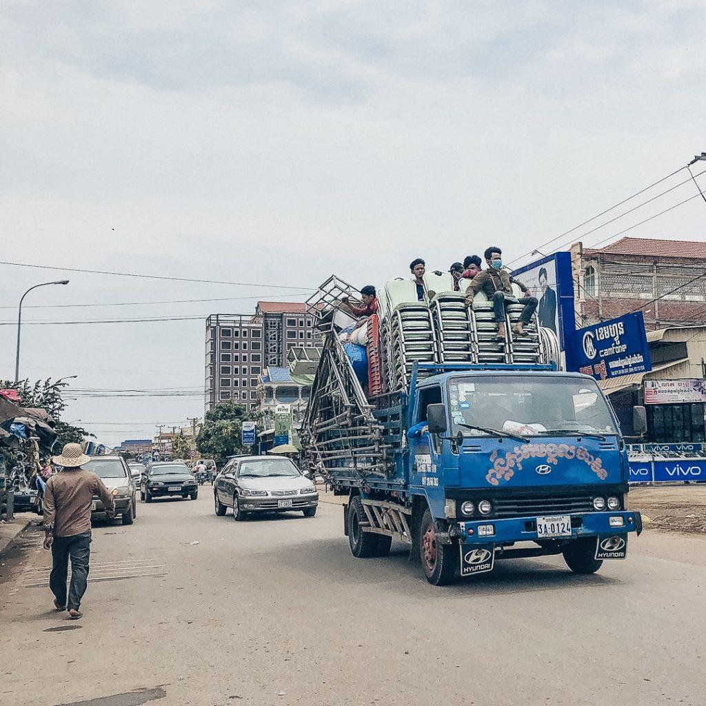 Scène de vie à Sisophon au Cambodge