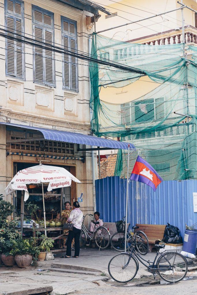 Vie dans les rues de Kampot, Cambodge