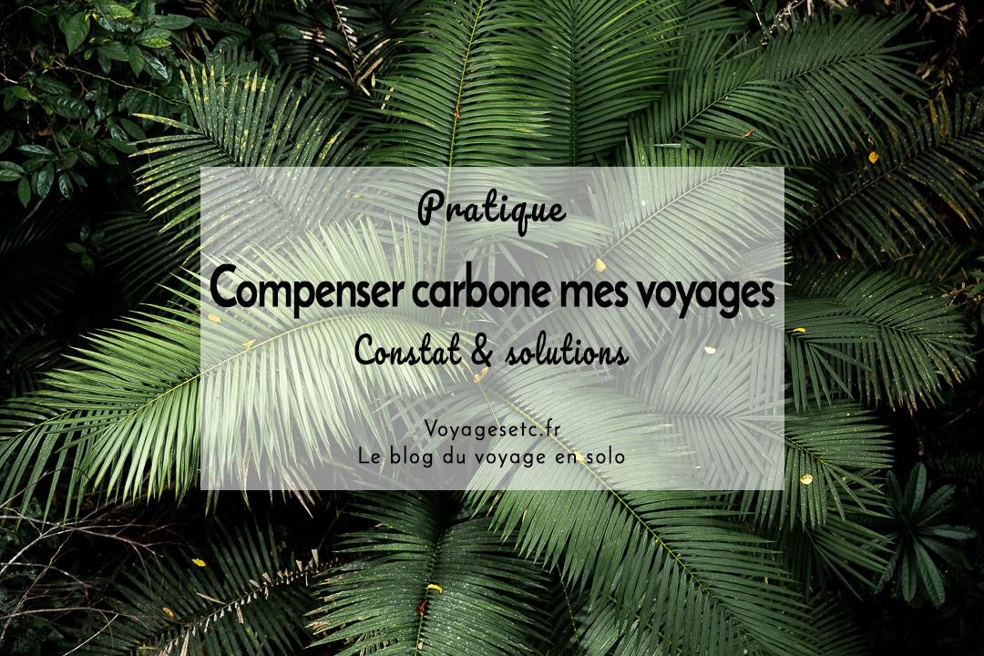 Compenser carbone mes voyages ? Constat & solutions #voyage #compensationcarbone