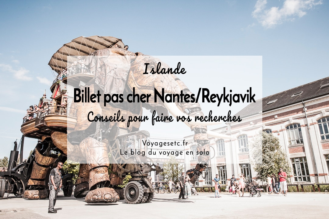 Trouver un billet pas cher Nantes Reykjavik