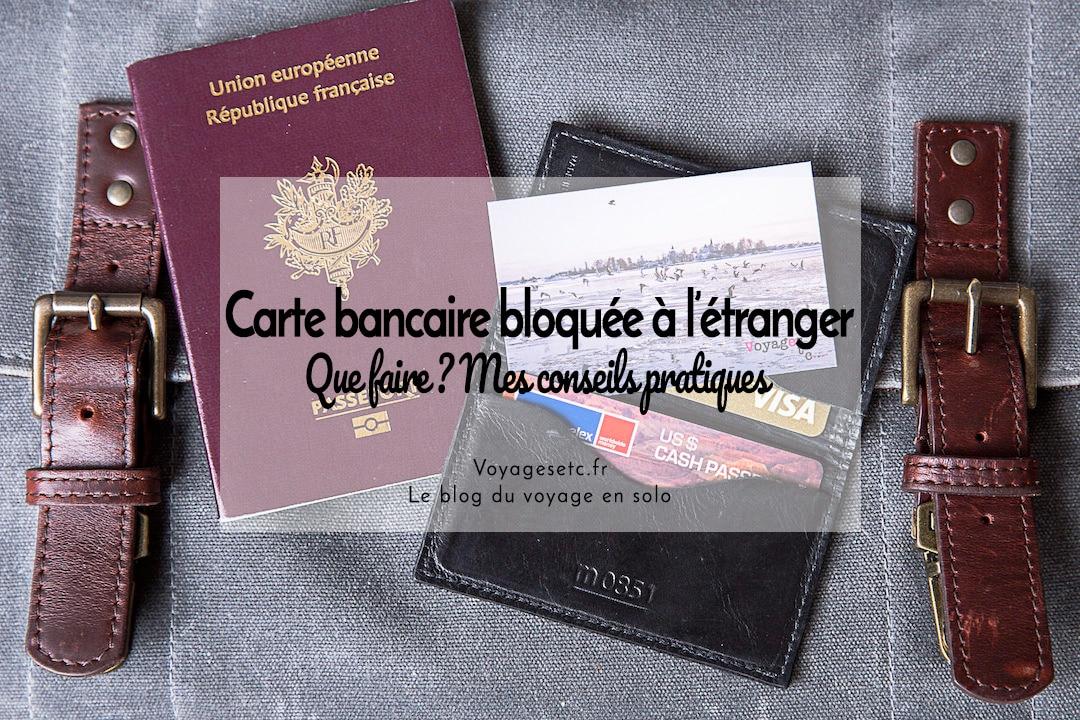 Carte bancaire bloquée à l'étranger, que faire ? #voyage #banque