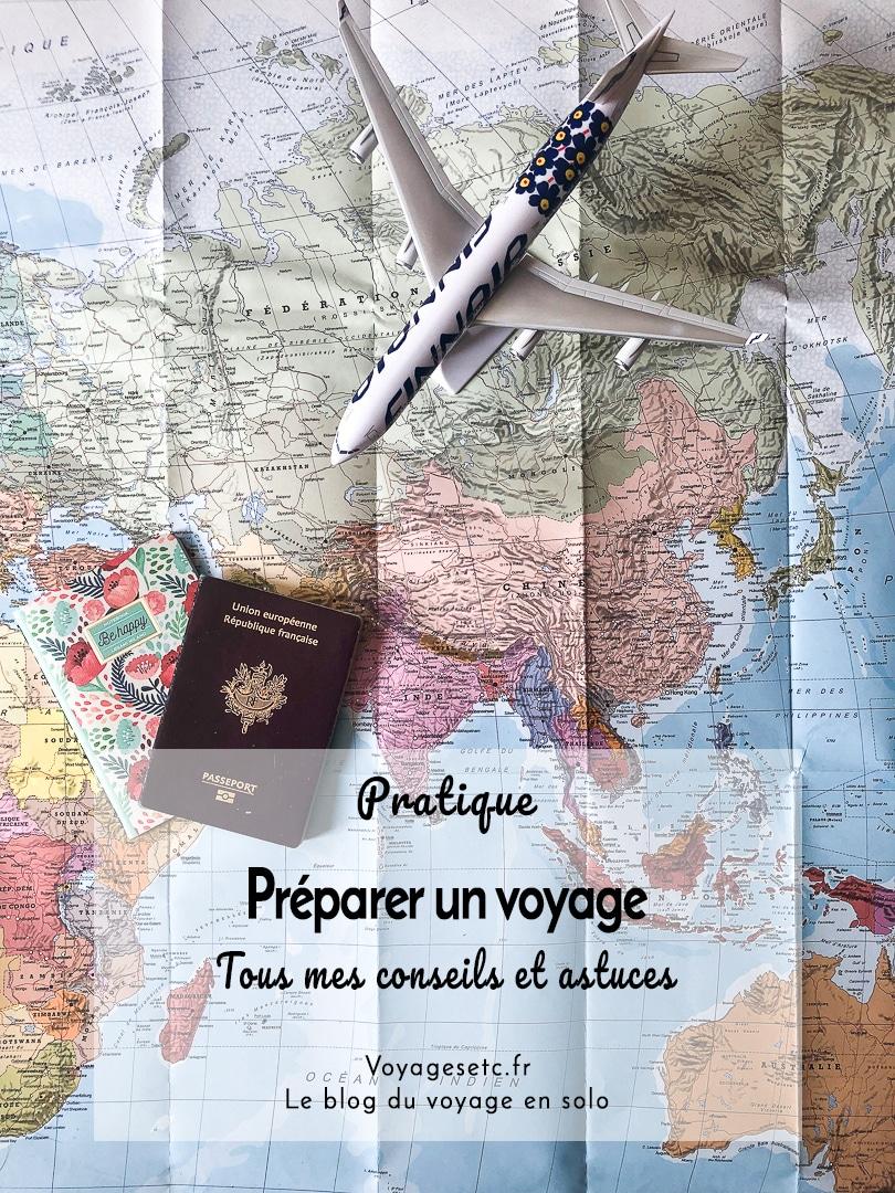 La préparation du voyage est une phase importante avant le départ en vacances. De la validité du passeport aux vaccins en passant par le visa, je vous ai dressé la liste de toutes les choses auxquelles il faut penser avant et après la réservation de son billet d\'avion. Je vous délivre aussi tous mes trucs et astuces et vous donne tous les liens utiles pour vérifier les informations à la source #voyage #organisation