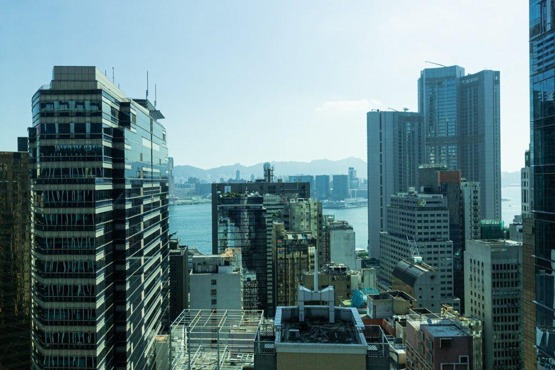 Vue depuis Lan Kwai Fong hotel à Hong Kong