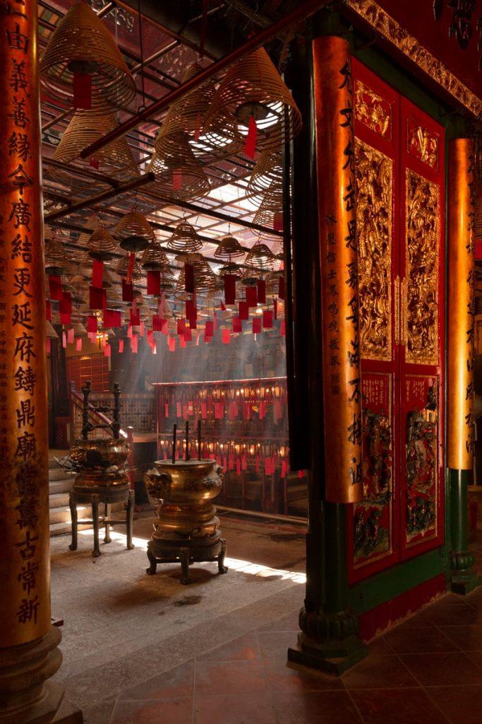 Temple Man Mo et ses encens qui se consument lentement mais surement #discoverhongkong
