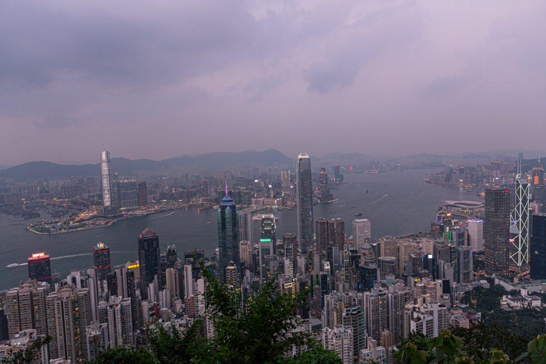 Monter au coucher du soleil au Victoria Peak, un incontournable à faire à Hong Kong