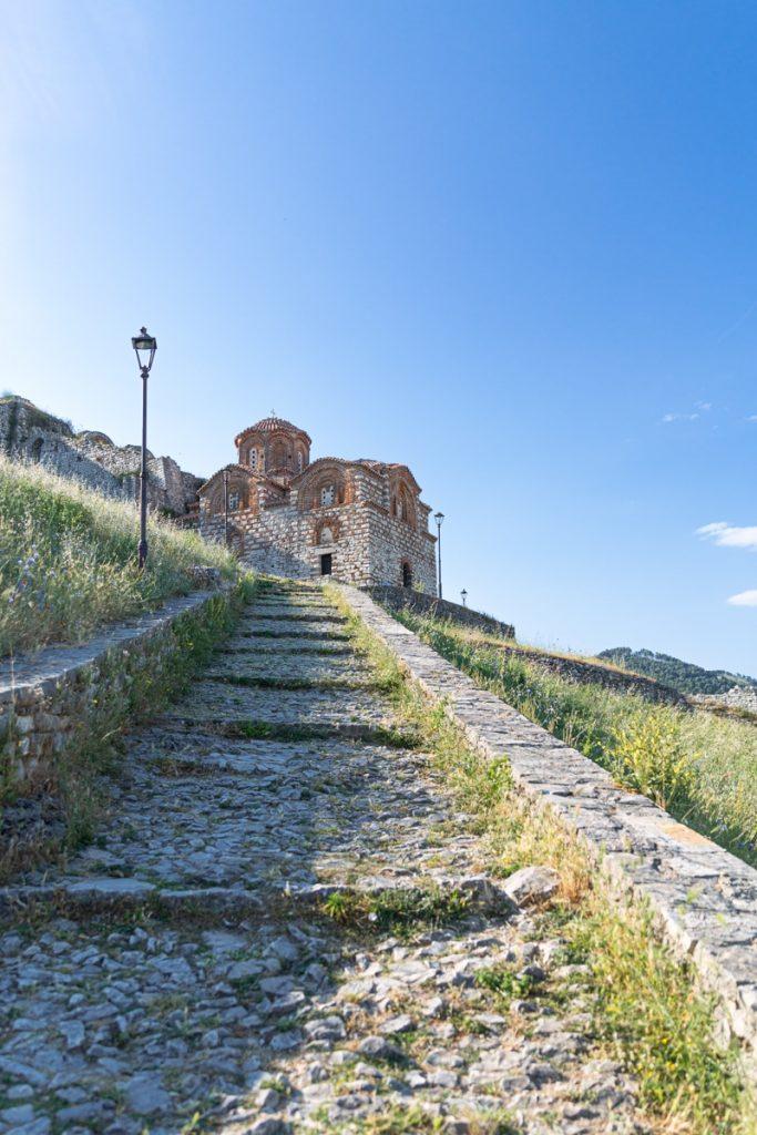 Eglise byzantine de la citadelle de Berat en Albanie