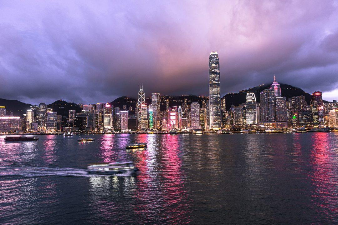 Skyline de Hong Kong depuis Tsim Sha Tsui
