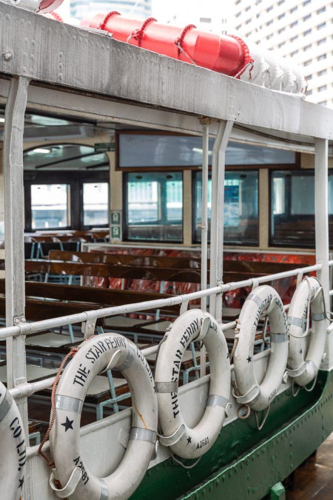 Le pont du Star ferry, le ferry qui traverse la baie de Hong Kong