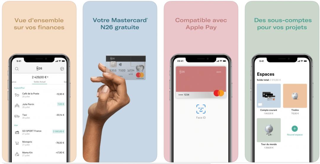 Application N26 pour payer moins de frais bancaires en dehors de l'UE