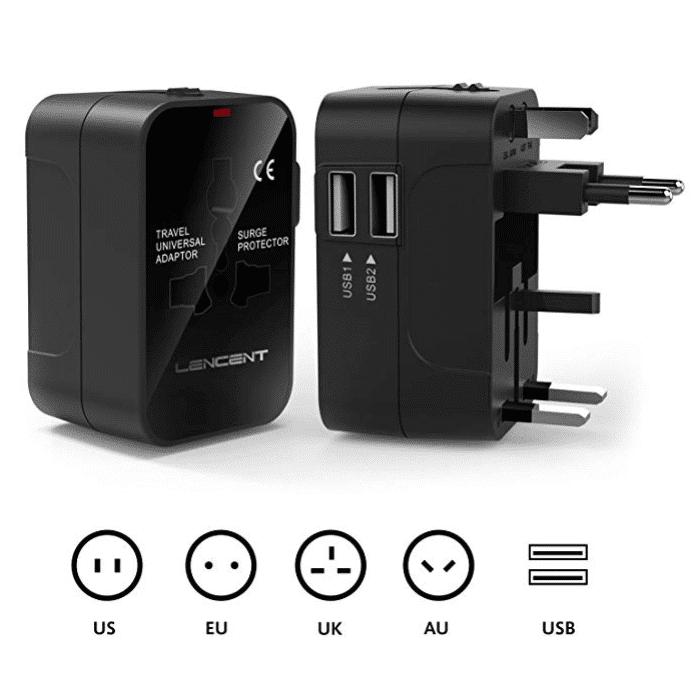 Adaptateur universel USB, un incontournable en voyage