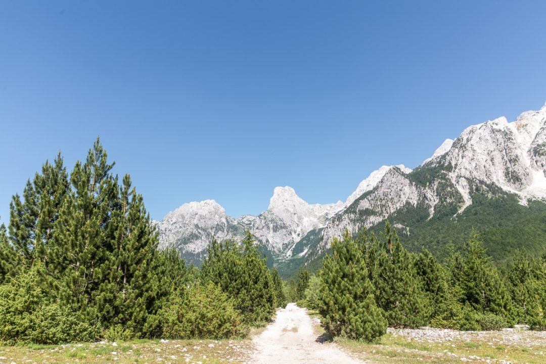 Dernière ligne droite vers Valbona - Albanie