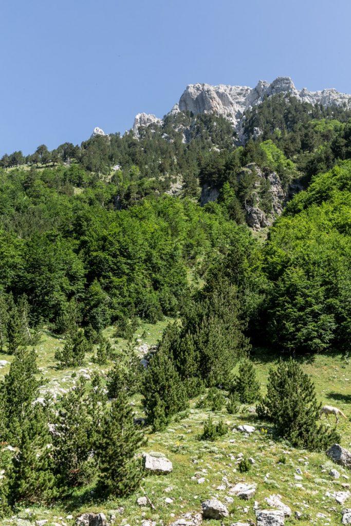 Paysage dolomitique des Alpes albanaises