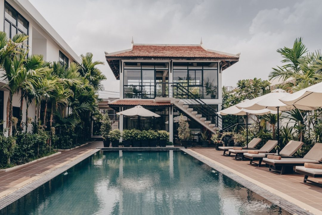 Rose blanche Boutique, un petit hotel sympa à Siem reap vers es temples d'Angkor