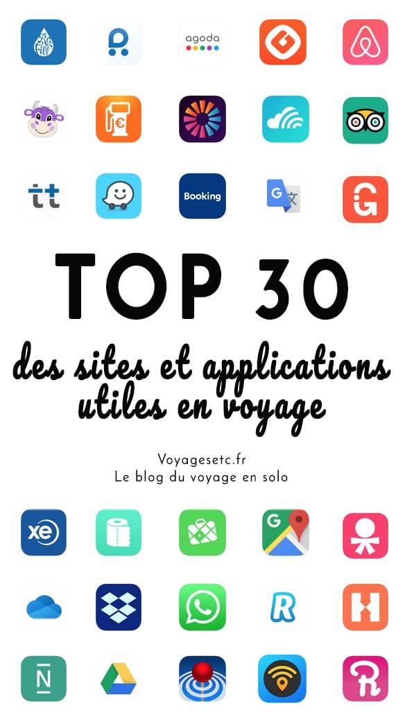 Top des sites et applications utiles en voyage en 2020