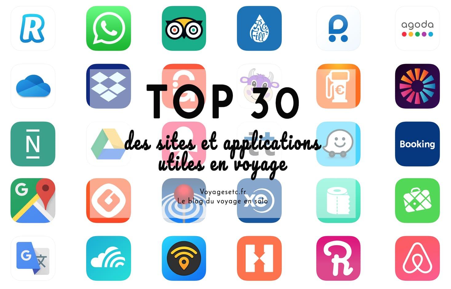 Top 30 des sites et applications utiles en voyage