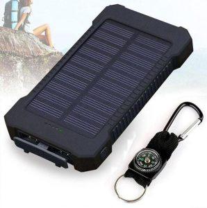 Power bank solaire, cadeau à offrir à un voyageur aventurier