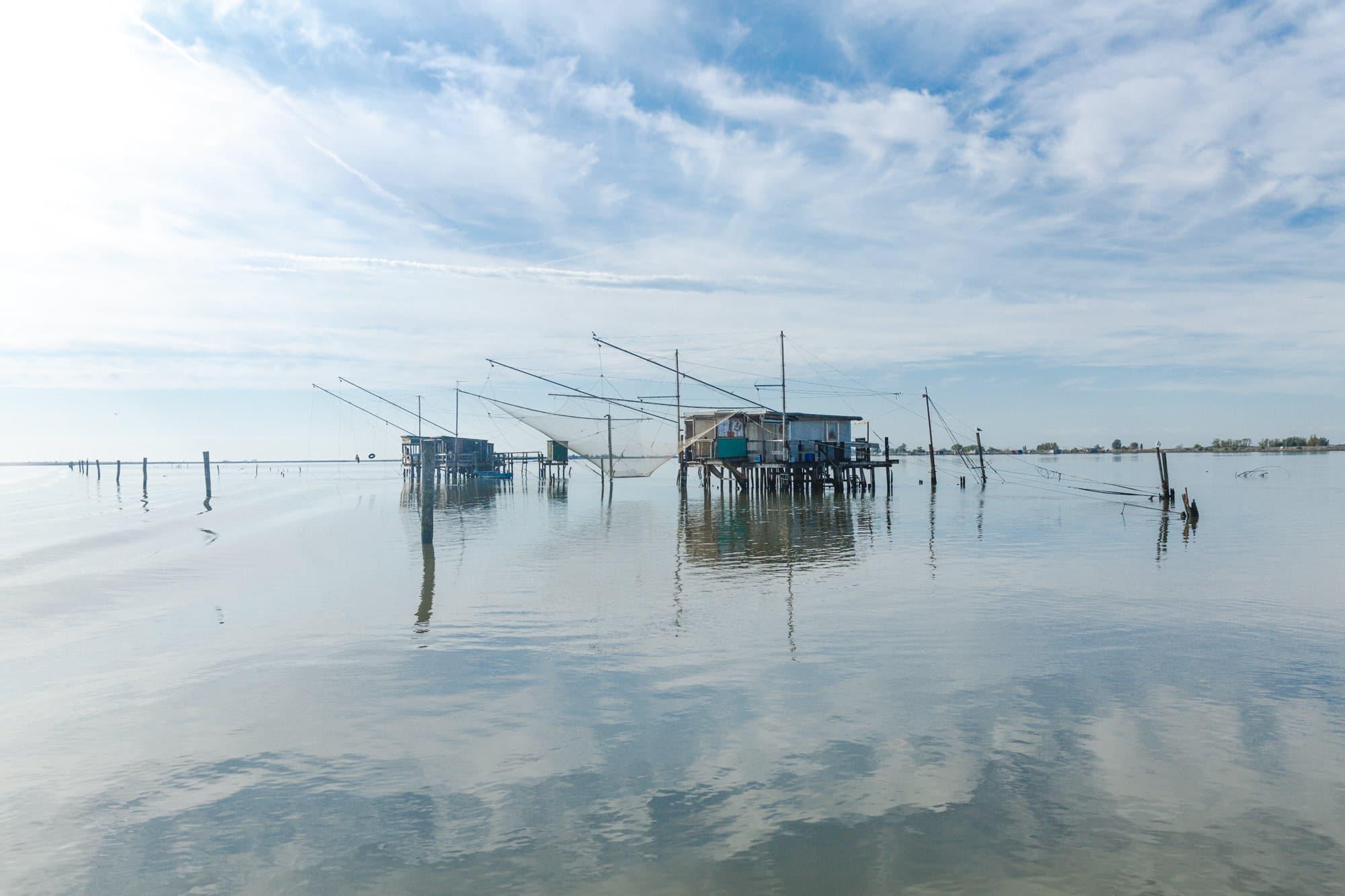 Les pêcheries du delta du Pô en Italie.