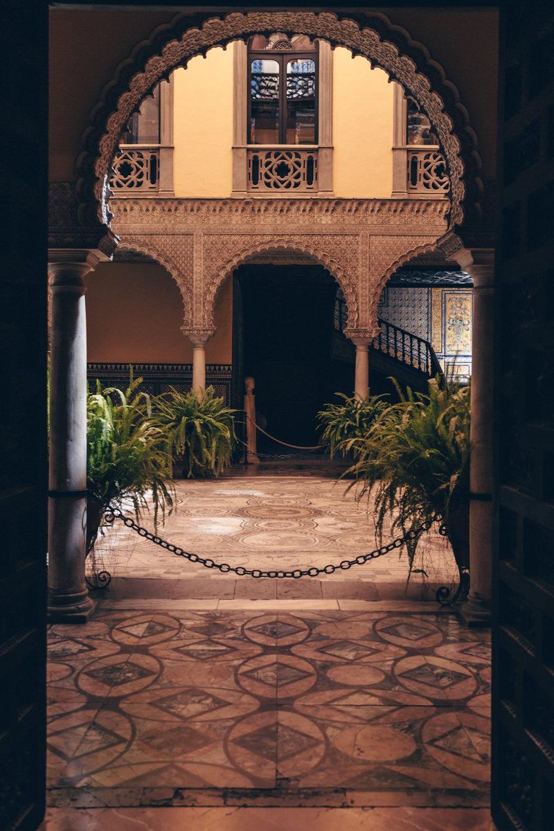 Intérieur du Palacio de Lebrija à Séville en Espagne