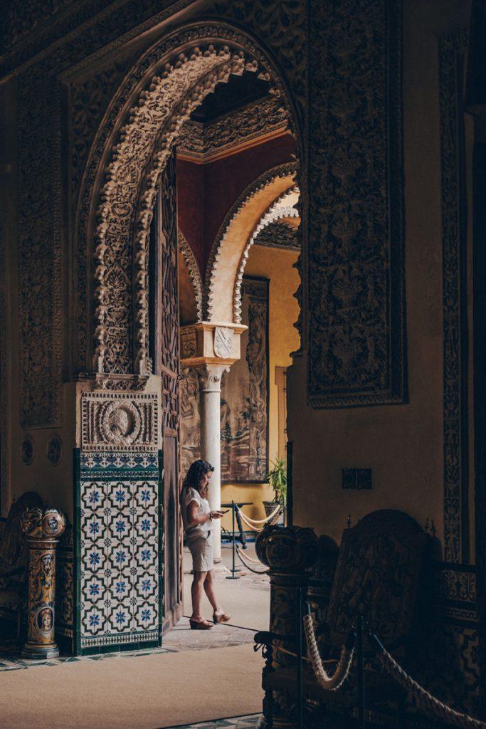 Séville : porte du palacio de las duenas