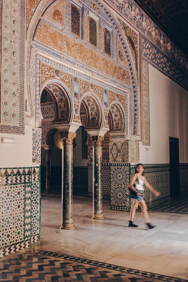 Intérieur du Real Alcazar à Séville