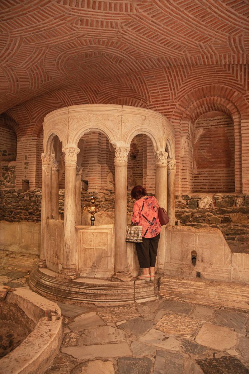 Bains romains de l'église Agios Dimitrios à Thessalonique