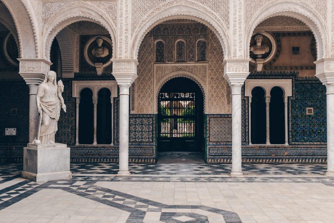 Intérieur de la casa de Pilatos à Séville en Andalousie #espagne