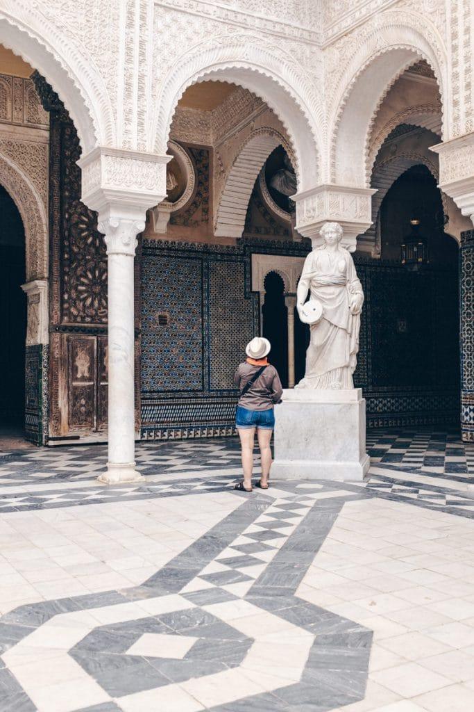 Face à Face dans la casa de pilatos à Séville en Andalousie #espagne