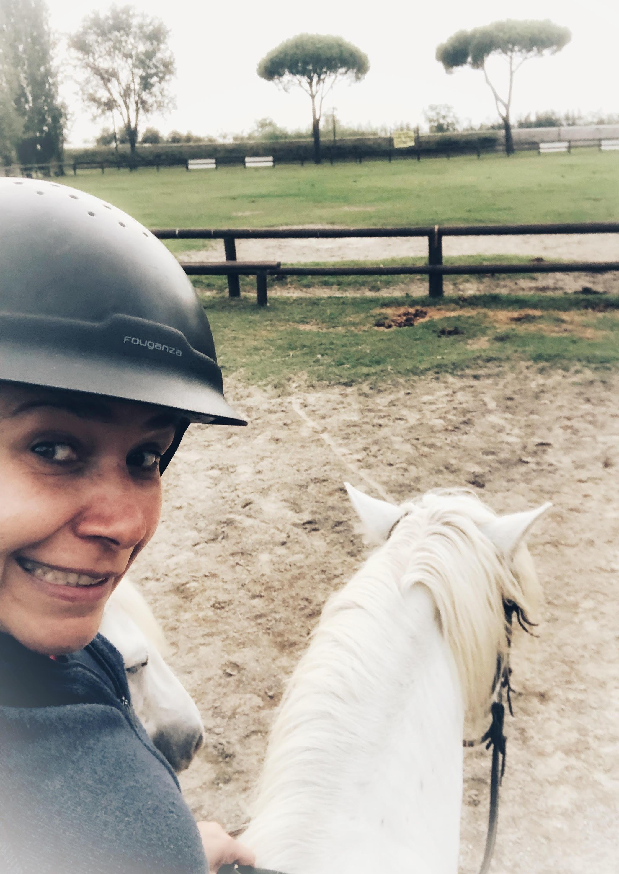 Faire du cheval dans le delta du Po en Italie