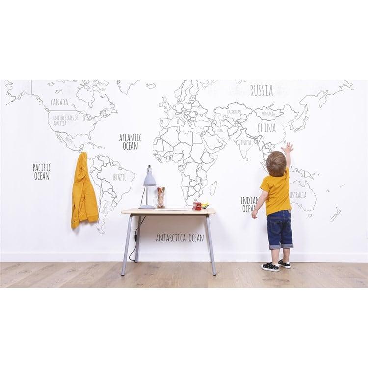 Mappemonde à colorier, le cadeau pour petits et grands