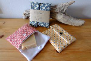 Pochettes à savon responsables faites à la main, un cadeau responsable à offrir à Noël