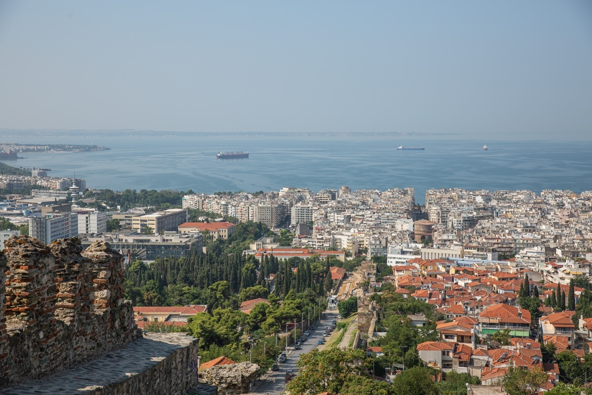 Vue sur Thessalonique depuis la tour Trigonion #grèce