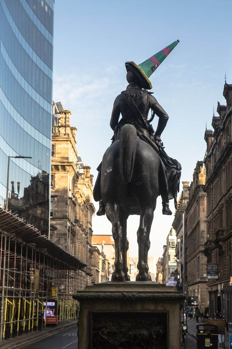 Statue du Duc de Wellington à Glasgow