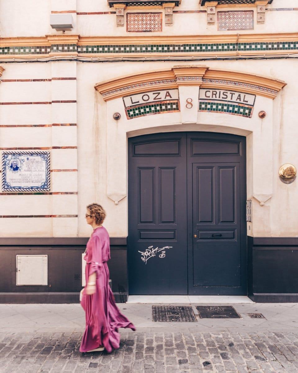 Azulejos dans les rues de Triana à Séville