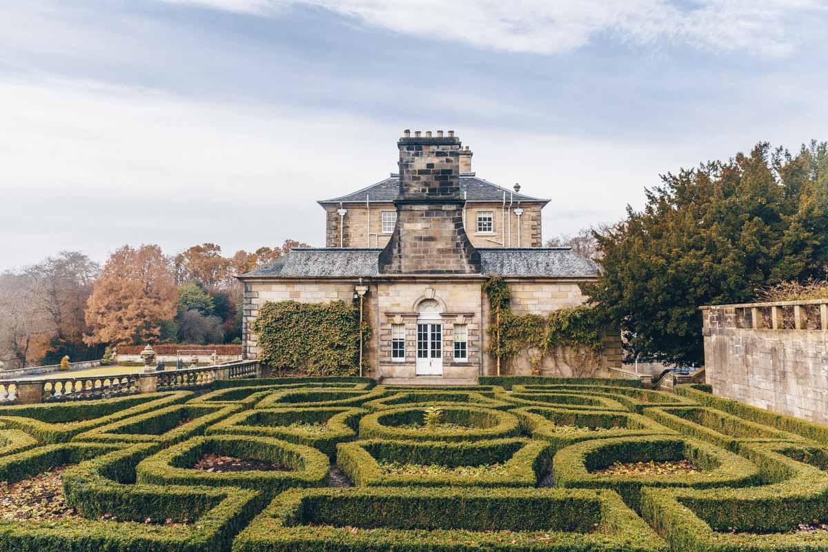 Les jolis jardins de la Pollok house à Glasgow