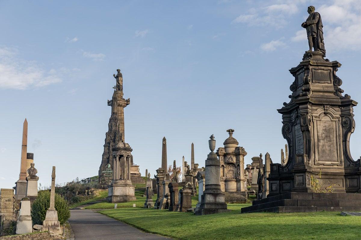 Nécropole de Glasgow située dans l'East end