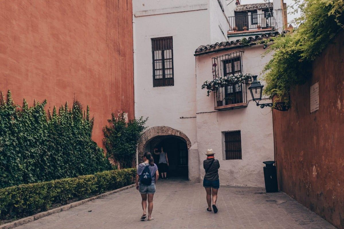 Les rues de Santa Cruz à Séville