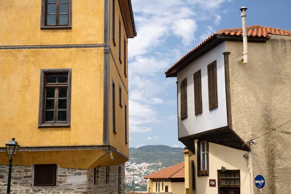Maisons du quartier de Panagia à Kavala, Grèce